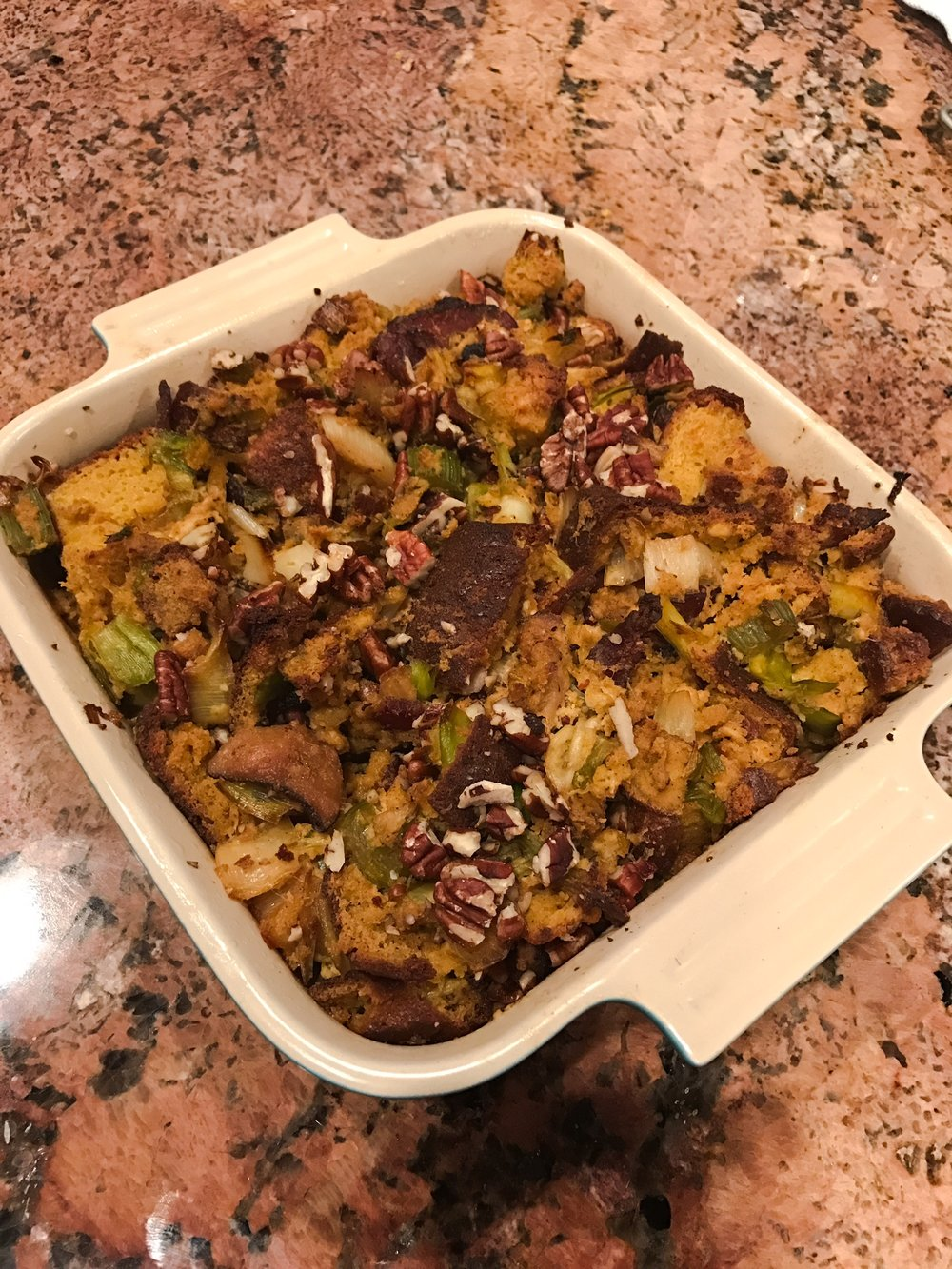 KETO THANKSGIVING STUFFING via Keto In The City