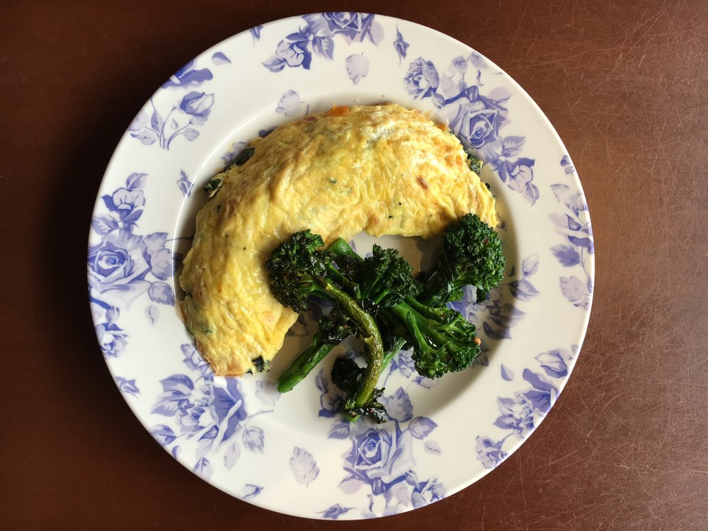 KETO RECIPE BY CHEF RUBEN RAPETTI: OMELET WITH BLACK KALE AND PANCETTA by Jen Fisch via Keto In The City