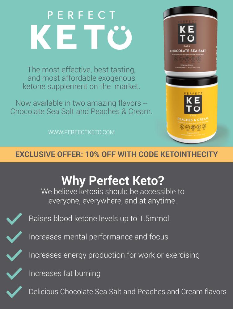 10% Perfect Keto Base, use code KETOINTHECITY