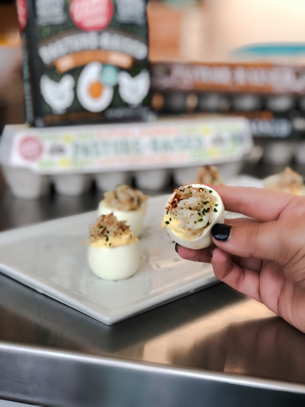 Crabby Eggs with Vital Farms by Keto In The City