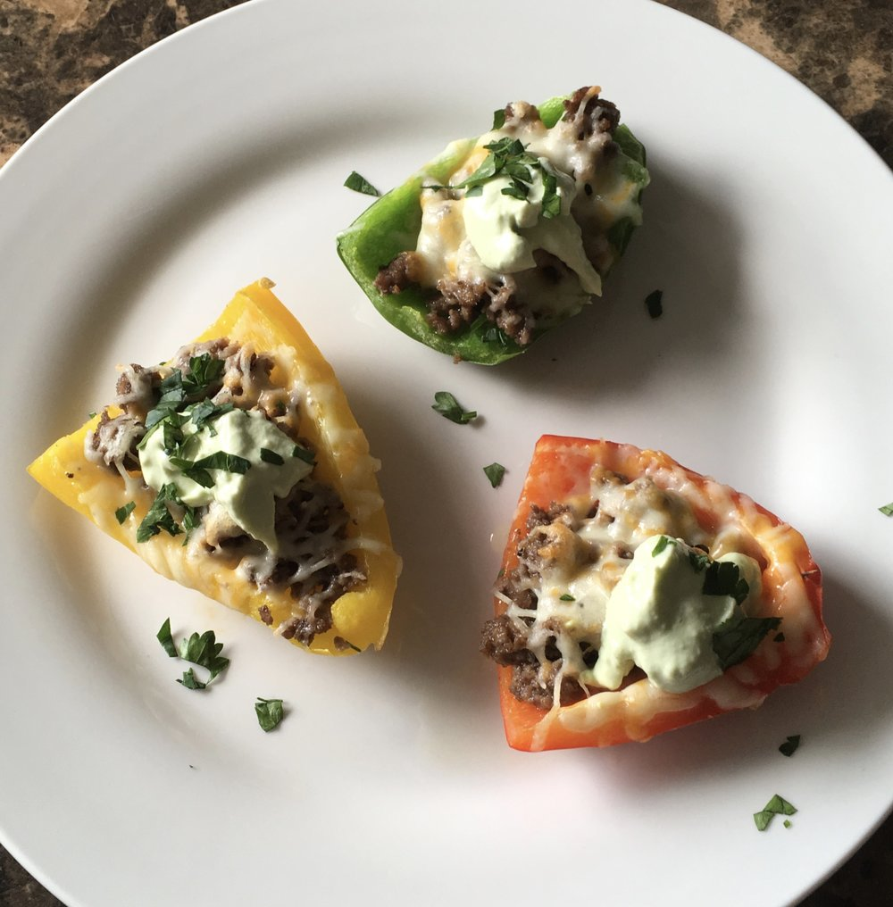 Keto Recipe Bell pepper potato skins
