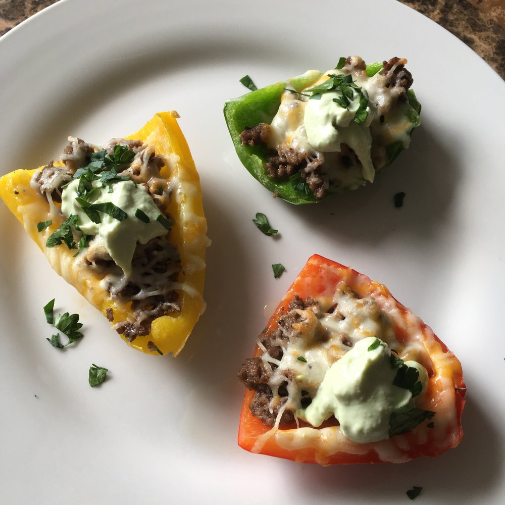 Keto in the city bell pepper skins