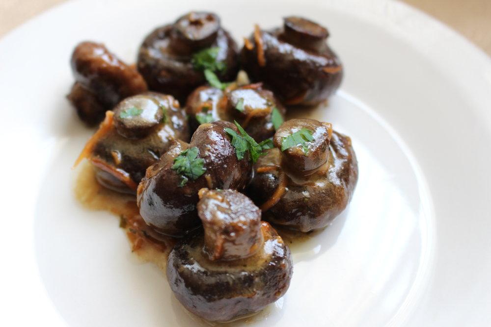 Keto slow cooker mushrooms
