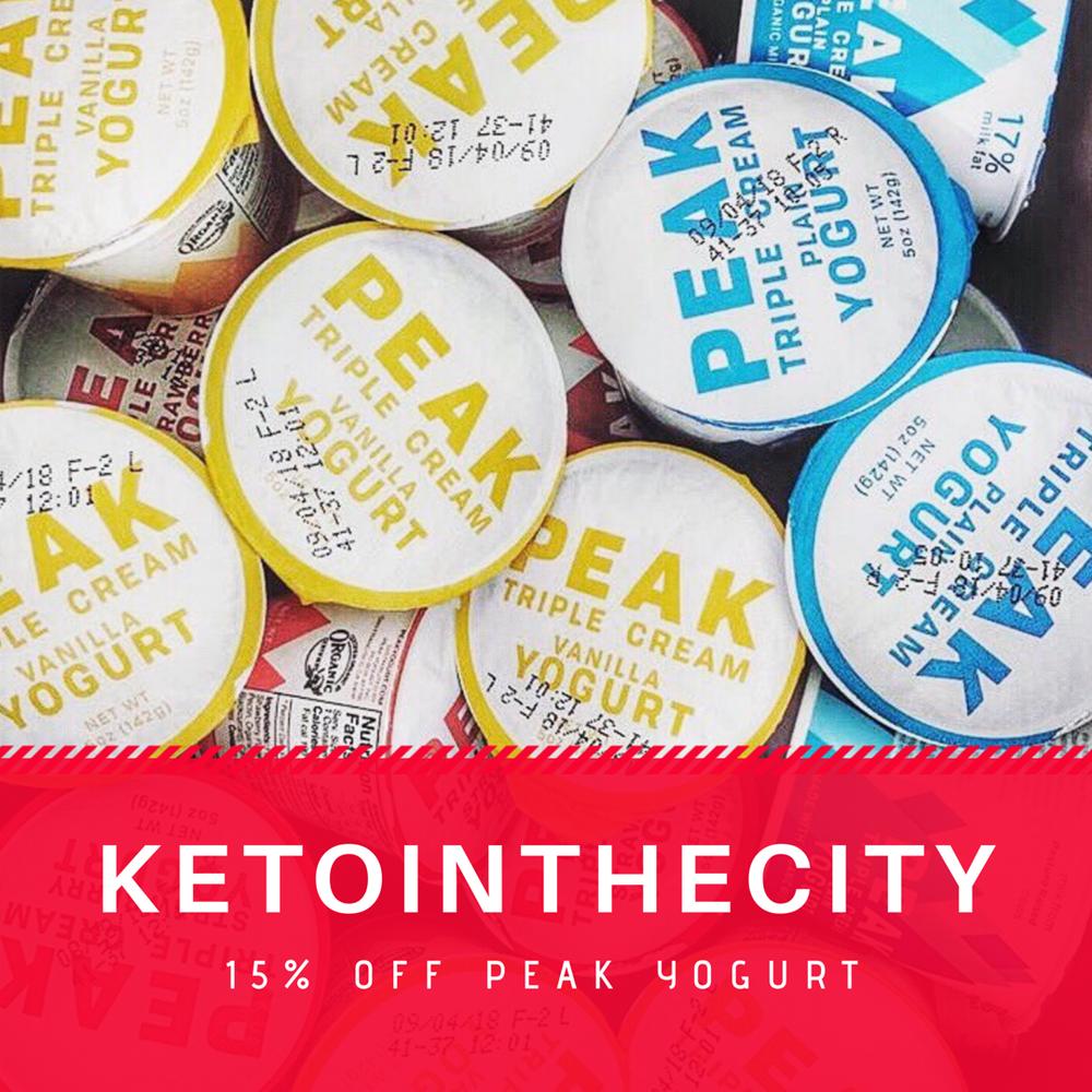 peak discount keto