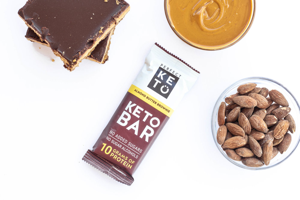 almonds, nut butter perfect keto bars