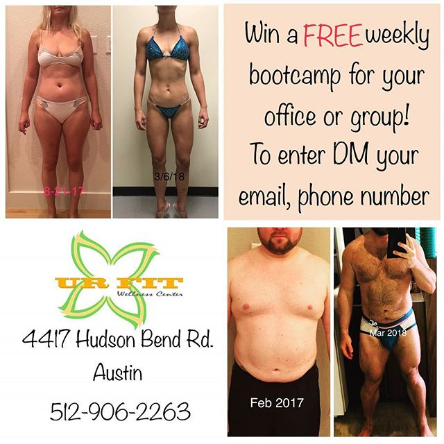 FREE Bootcamp class! Gather your co-workers or friends and we will either come to you (within 15 mile radius of Hudson Bend Rd.) or come to our studio and have your own bootcamp class! Simply send us a direct message and include your name, number, and email address to enter to win! Enter by Friday, September 28 @urfitwellnesscenter #lakeway #lakewayfitness #lakewayfit #lakewaytx #lakewaytexas #laketravis #laketravistx #austin #atx #austinfit #austintexas #austintx #austinfitness #austinfit #texas