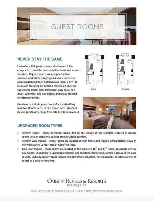Guest Rooms Sheet