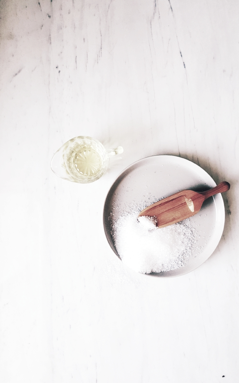 - The Basic1 cup Epsom Salts1 tablespoon or oil (I use either organic coconut oil or apricot kernel oil)