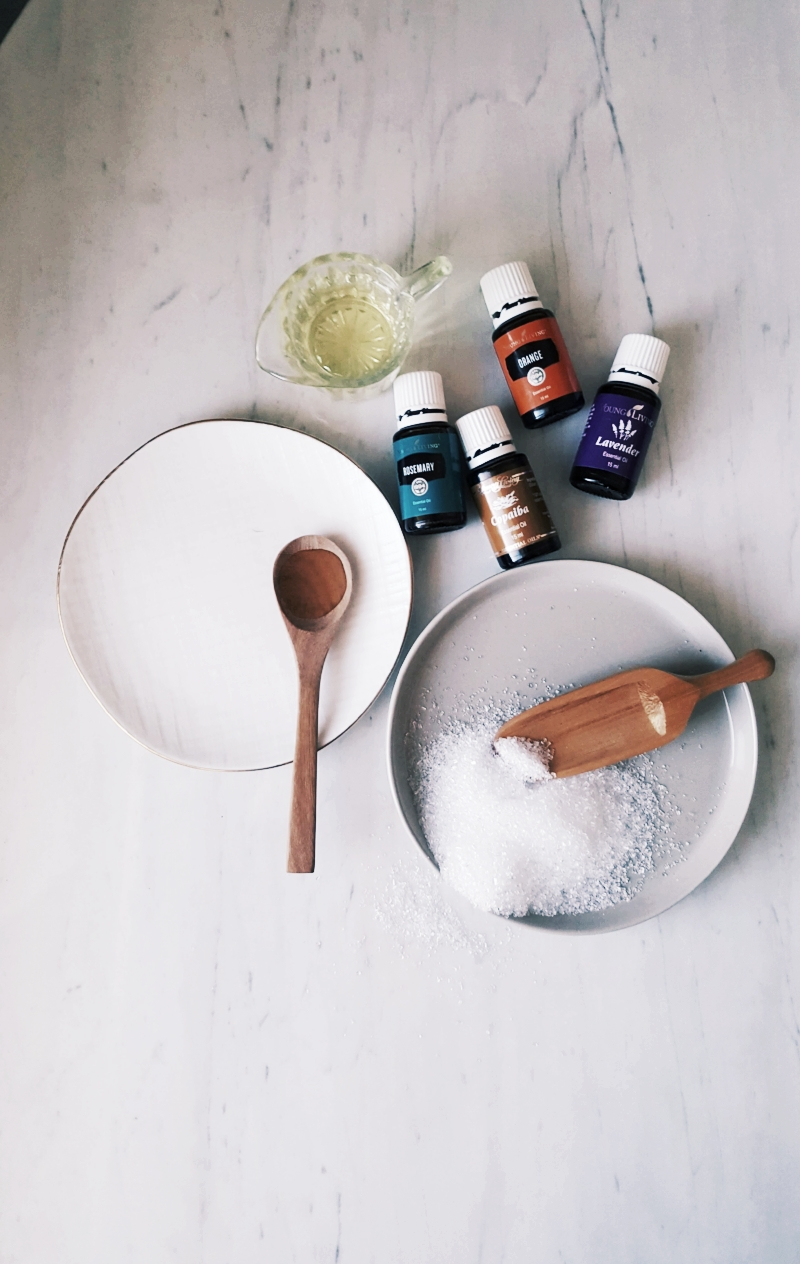 - The Headache Be Gone1 cup of Epsom salts |½ cup apple cider vinegar |1 tbsp carrier oil of your choice |4 drops rosemary or copaiba or orange essential oil |4 drops lavender essential oil+The magnesium-rich Epsom salts are helpful in reducing cortical-spreading depression—this is the visual and sensory changes that occur when experiencing a headache,especially a migraine. They also help block the pain-transmitting chemicals in the brain. Win/win.The calming and numbing effects of lavender essential oil also help make this a perfect tool for finding headache relief.
