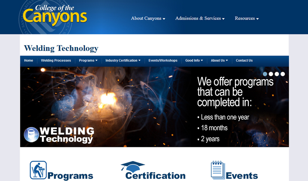 College of the Canyons | Welding Technology