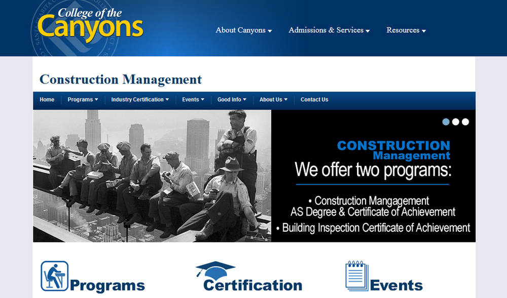 College of the Canyons | Construction Management