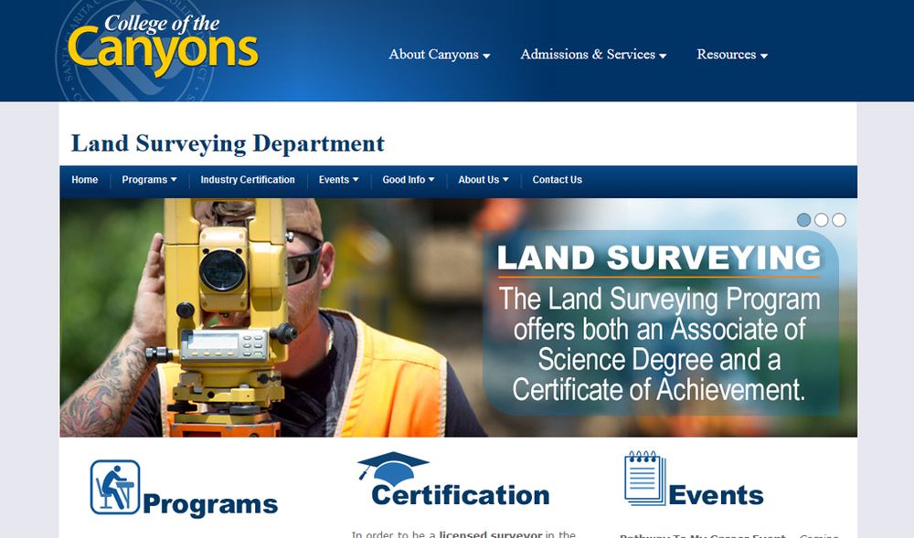 College of the Canyons | Land Surveying