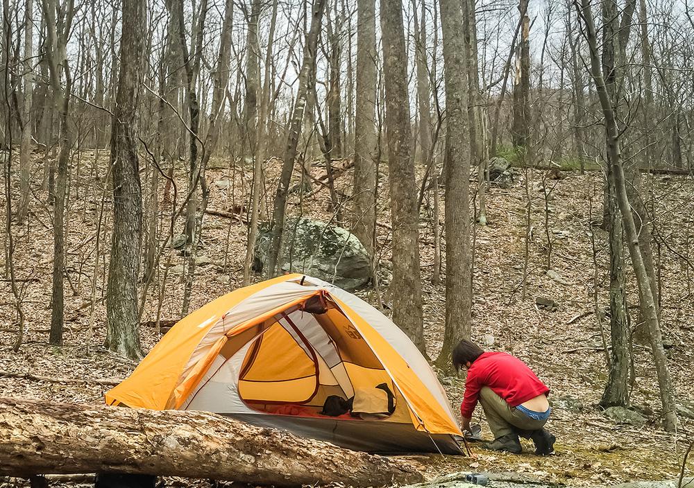 Camping in Old Rag, Shenandoah National Park