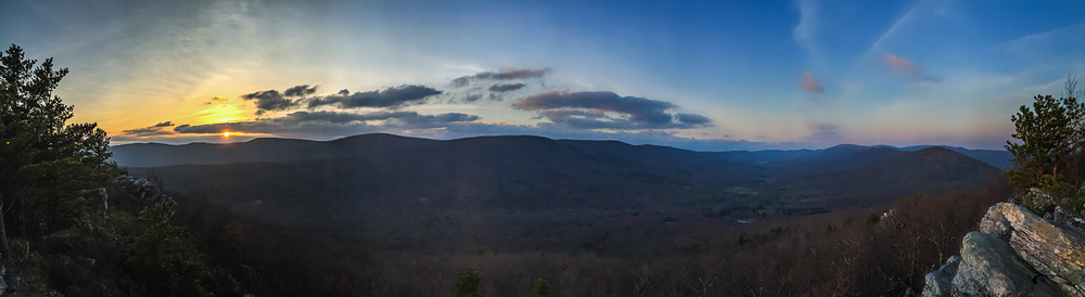 Sunset from Tibbet Knob overlook, George Washington National Forest, West Virginia