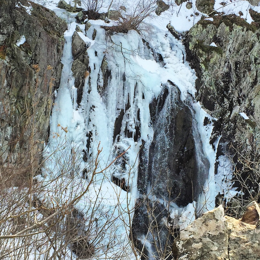 Frozen Waterfall in Shenandoah National Park