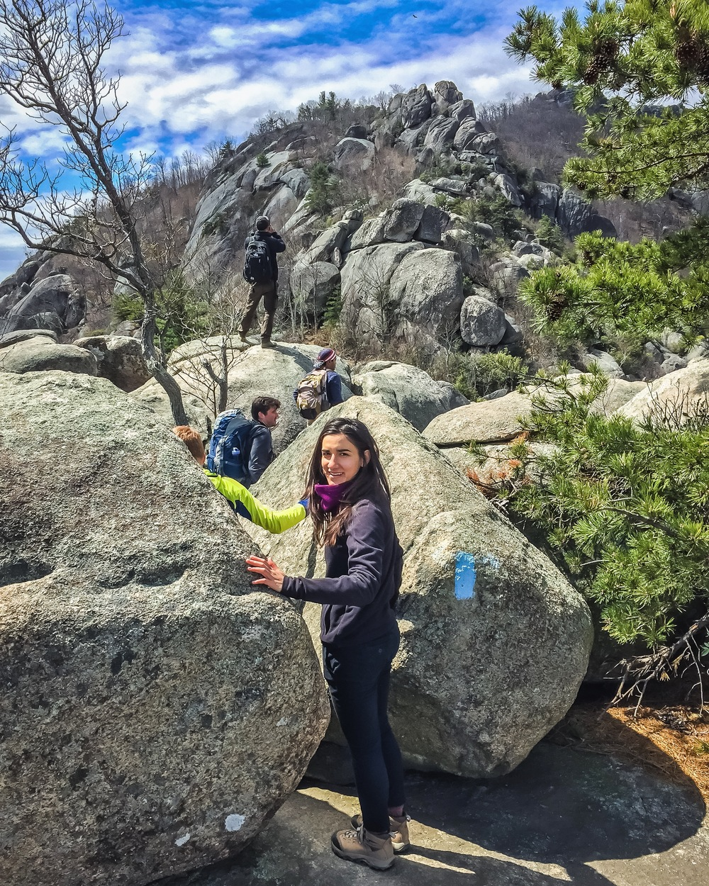 Rock Scrambling In Old Rag Mountain