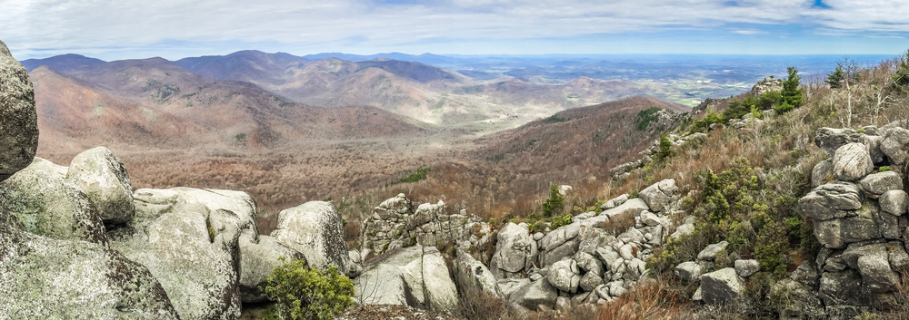 Shenandoah Mountains and Granite Rocks