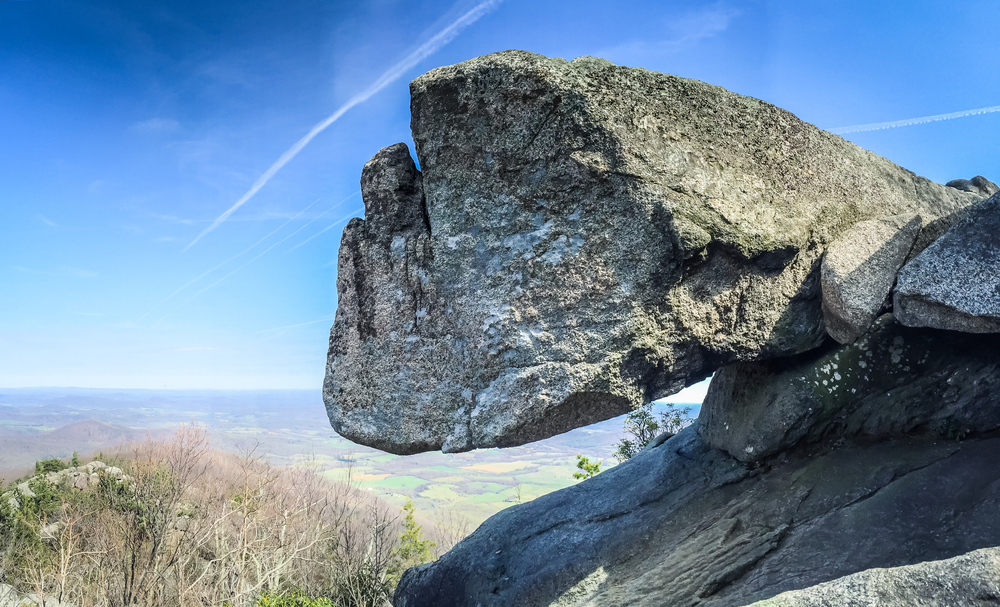 Rock formation at Old Rag Mountain, Virginia