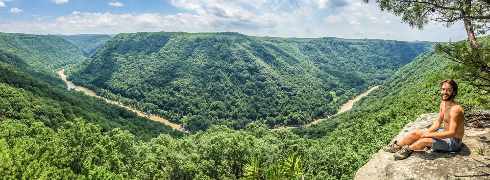 Overlook at the Endless Wall trail, New River Gorge
