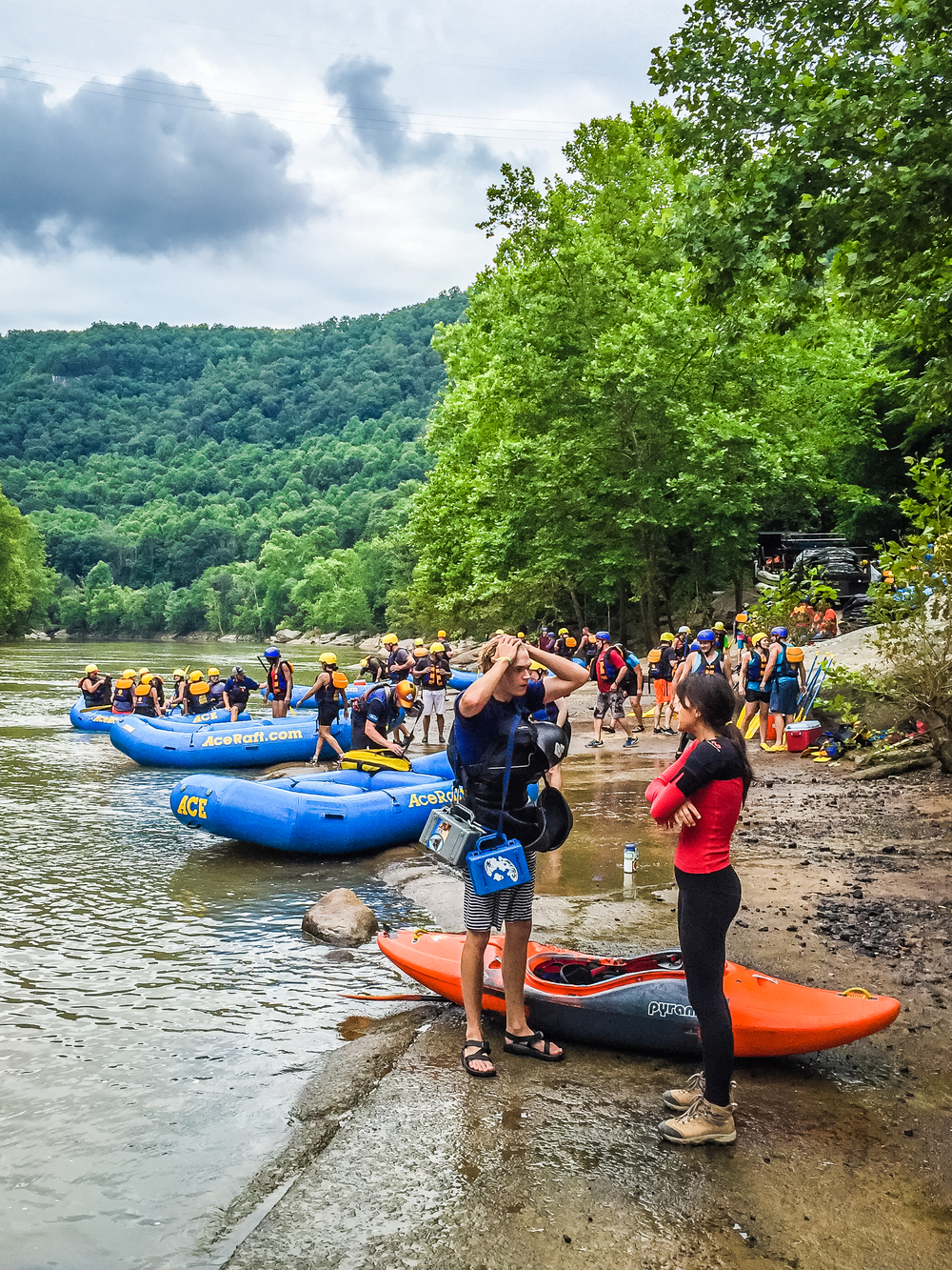 Rafting in New River Gorge, West Virginia