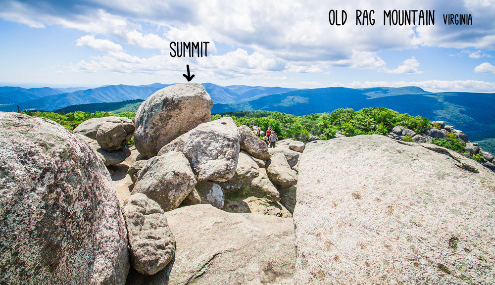 Old Rag summit shenandoah virginia