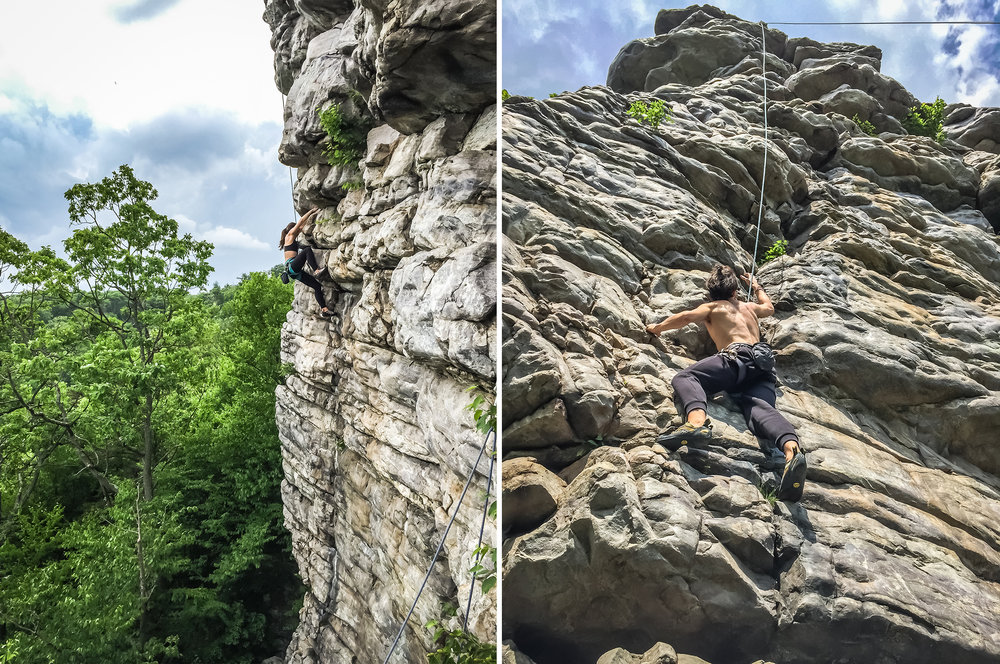 Climbing in Annapolis Rock, Maryland
