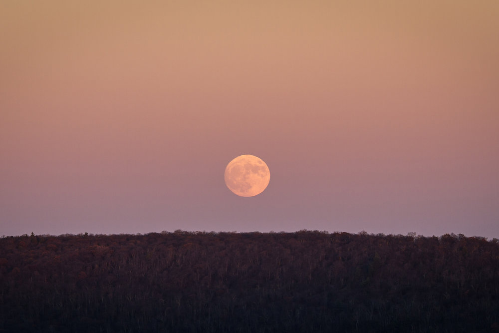 Moonrise at Big Schloss, George Washington National Forest
