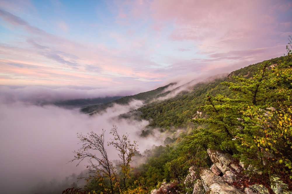 Sunrise in White Rocks, George Washington National Forest, West Virginia