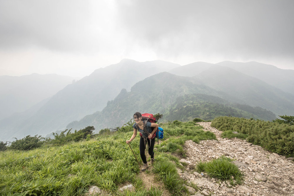 Climbing Qingliang Mountain in East China