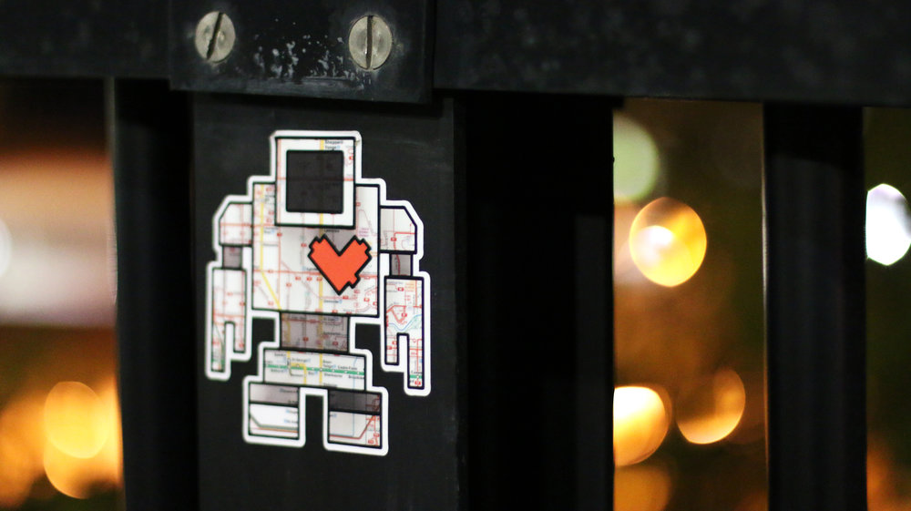 I love finding unique things on my night journeys around the city and this adorable, little TTC map robot was too amazing to pass by without shooting.
