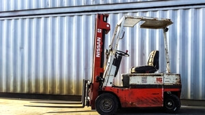 Norlift offers used equipment including used forklifts, used yard tractors, and other used equipment     in Portland, O  regon, and the greater Oregon and Washington areas  .  This photo shows a used Nissan forklift.