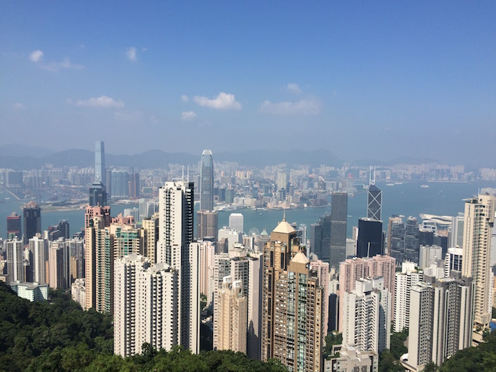 A snapshot of the city from the Peak.