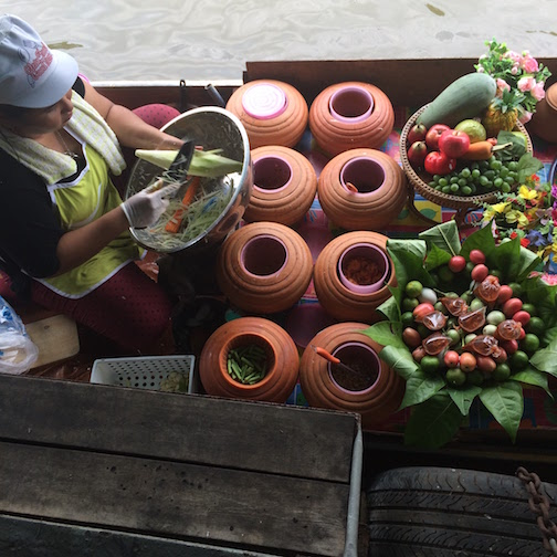 Taling Chan Floating Market was less traveled than most floating markets in Bangkok - which is exactly what we loved about it!