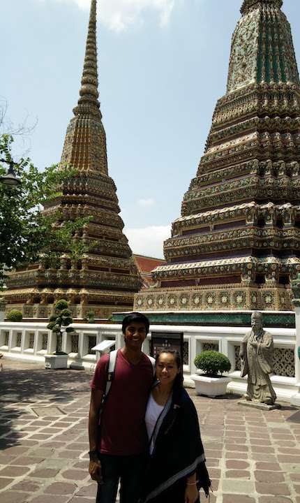 Wat Pho temples making us feel so small.