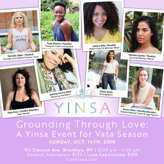 Live Yinsa Grounding Through Love: A Yinsa Event for Vata Season Melanie Santos MelanieSantos.co