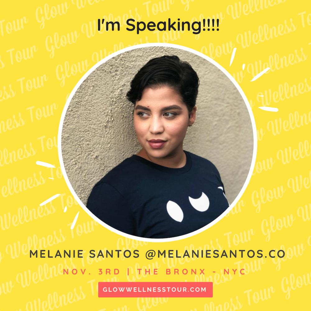 Melanie Santos Glow Wellness Tour Bronx NY November 3 2018 Candy Calderon