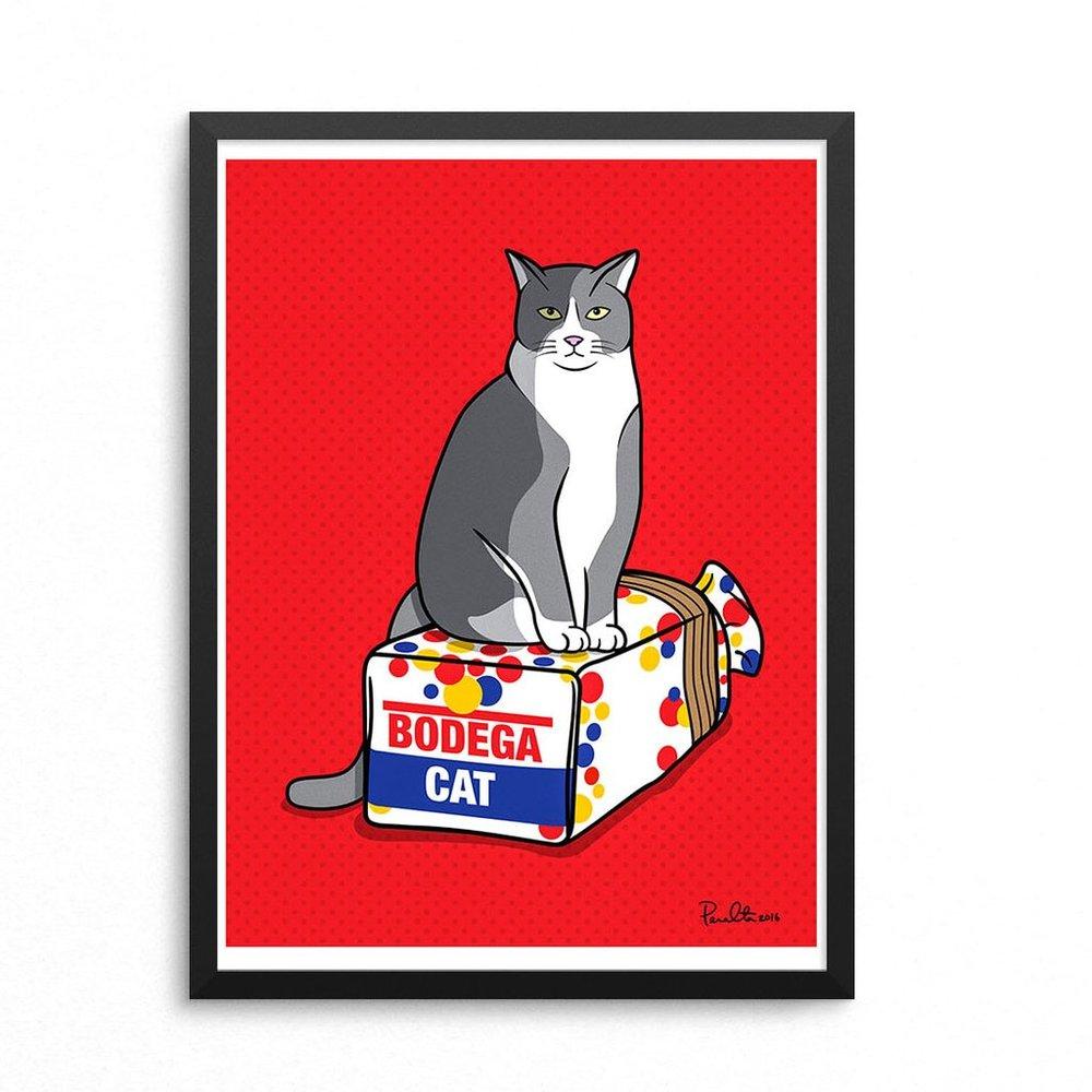 Bodega Cat Art Print - Peralta Project