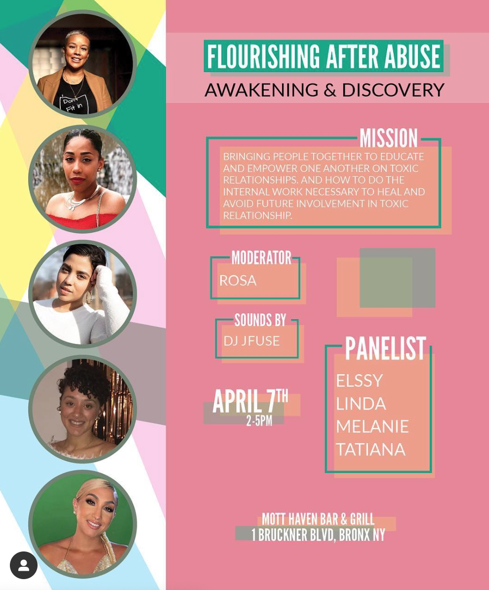 Flourishing After Abuse, Abuse Survivors NYC, Relationship Event NYC Melanie Santos