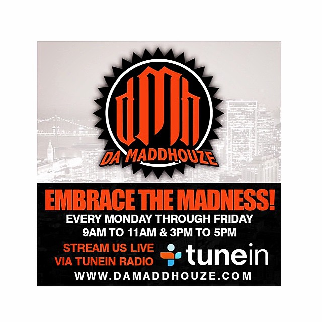 Happy Friday everyone!! Be sure to tune in to our LIVE INTERVIEW with @damaddhouzeradio show @ 4 PM. We'll be giving you some updates on upcoming shows and insight to what the group's been up to.. and some exclusives 🙌. Keep it locked!! www.damaddhouze.com #onair #radiointerview #TGIF #DaMaddHouze #TuneInRadio #staytuned #onyourradio #BayArea #KCSF #FM