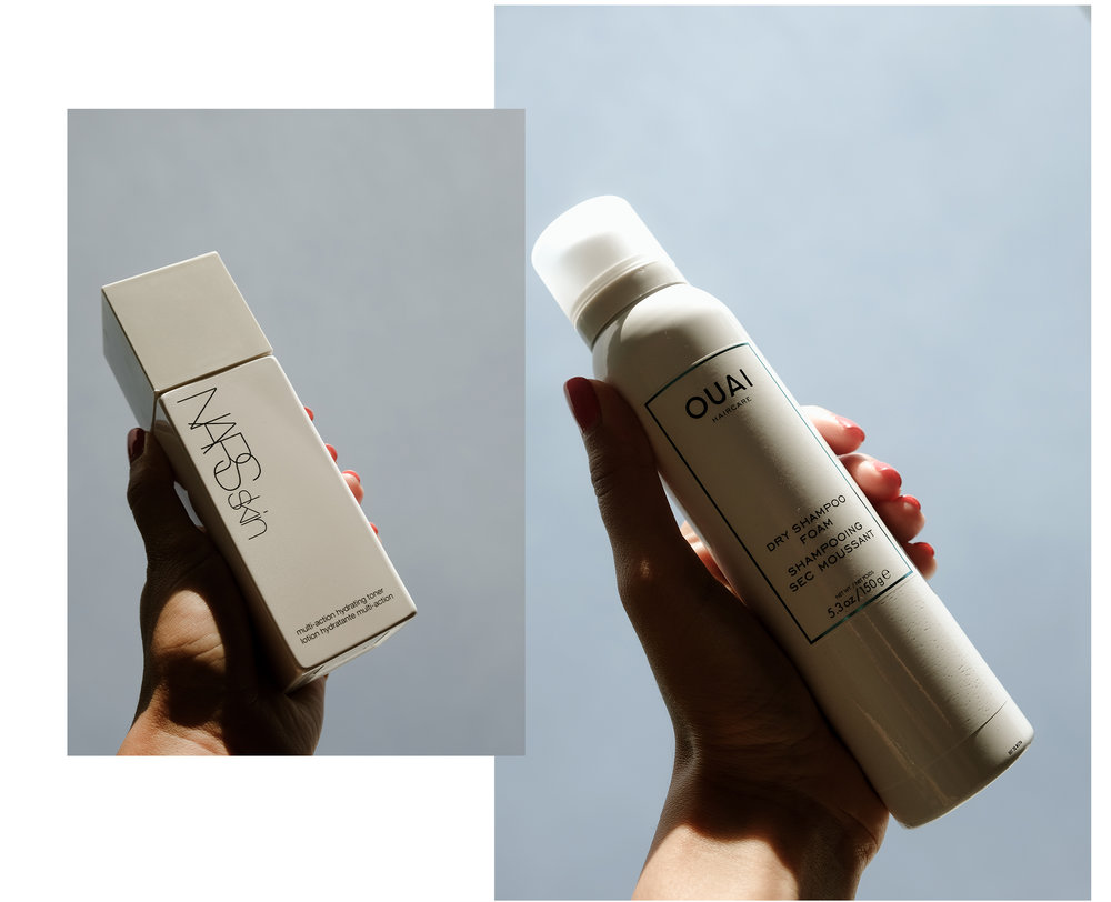 Nars Skin Toner & OUAI Dry Shampoo Foam