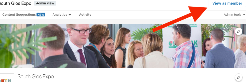 How to 'View as member' on LinkedIn