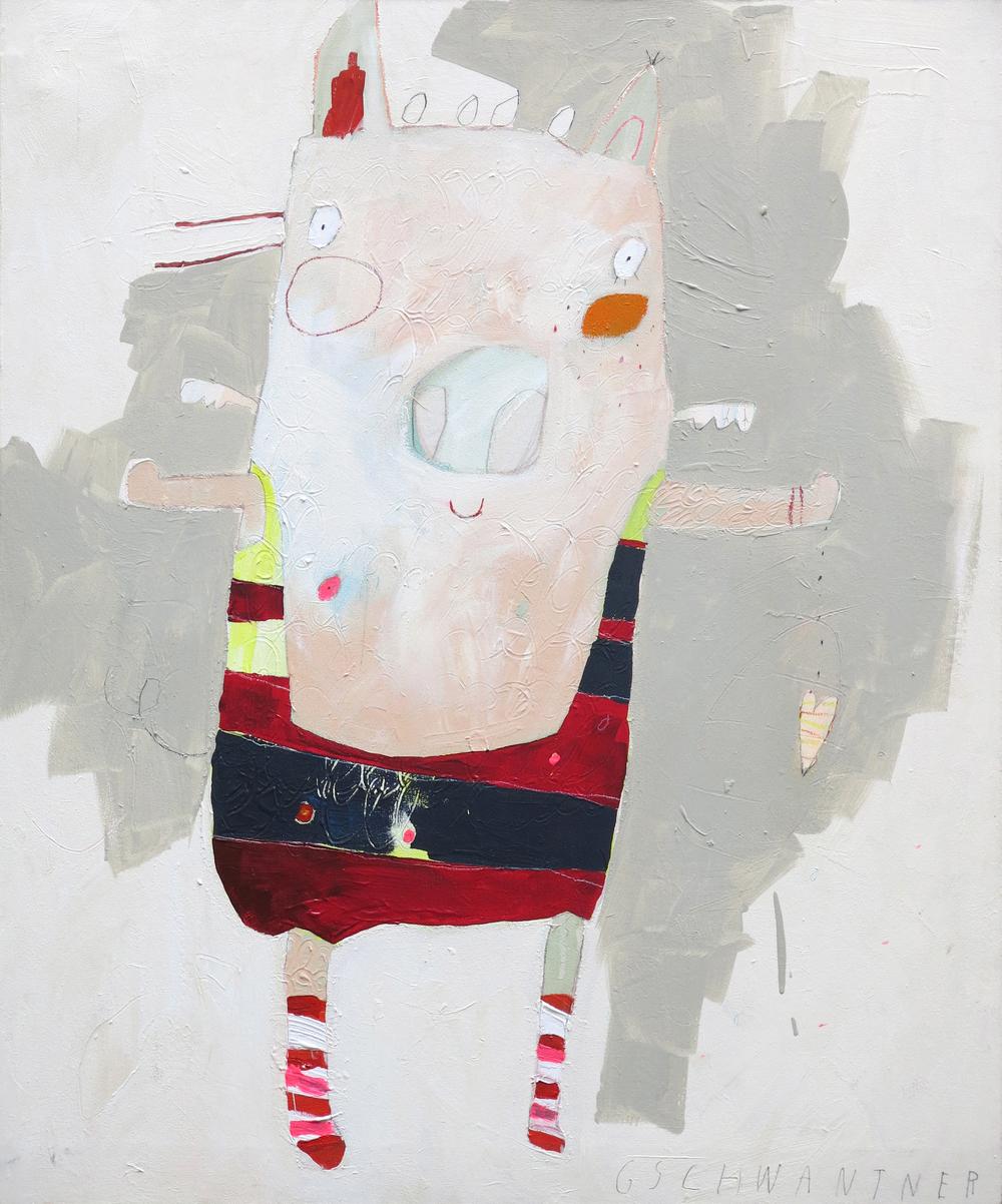 Madame Ringelstrumpfschwein, 2009/15,87 x 94