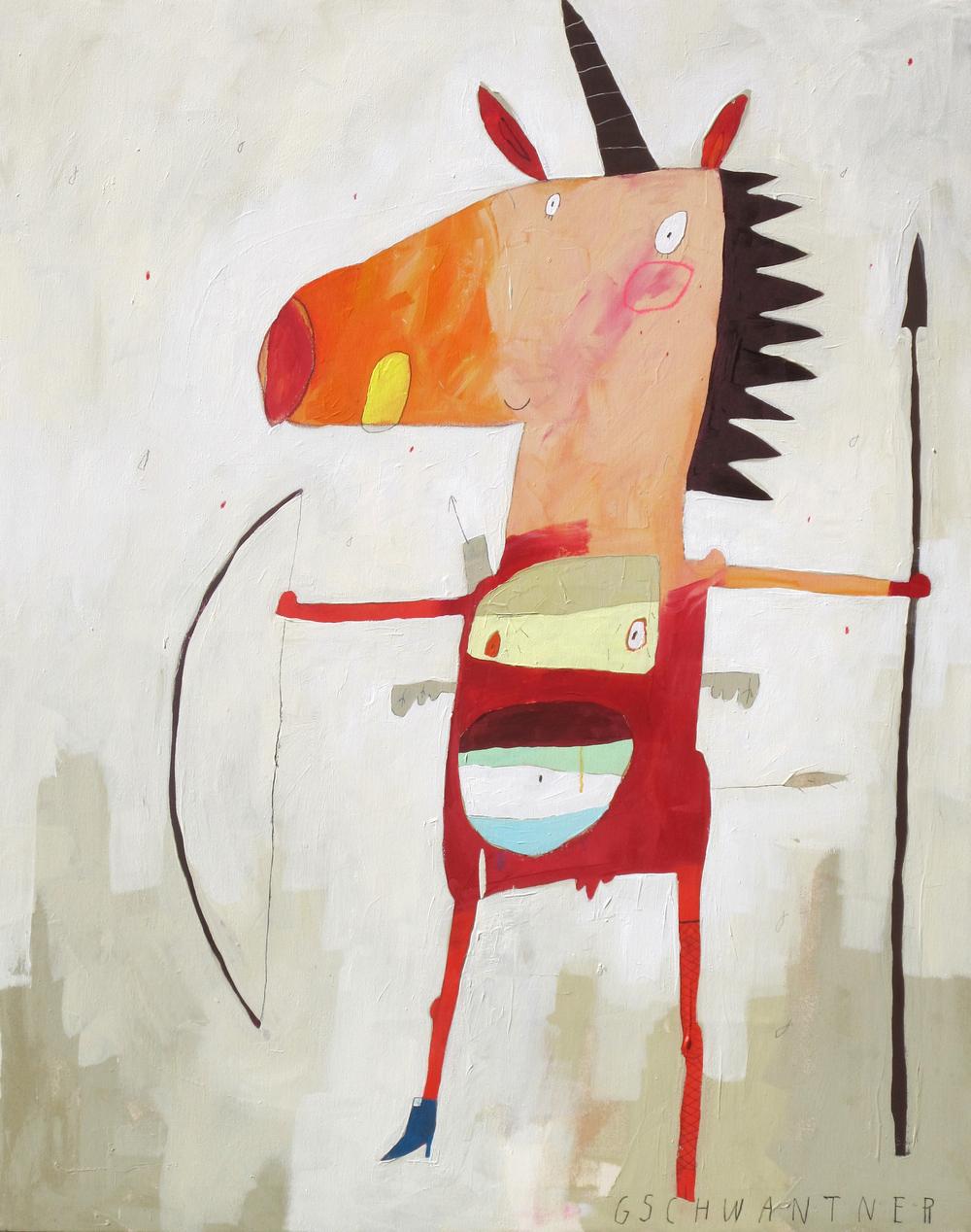 Einhornwesen, 2012, 103 x 133