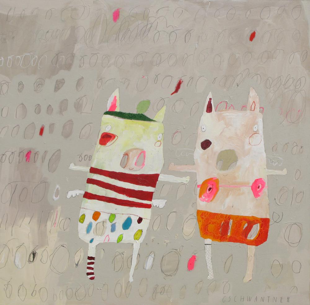Ringelstrumpfschweine, 2009, 135 x 135
