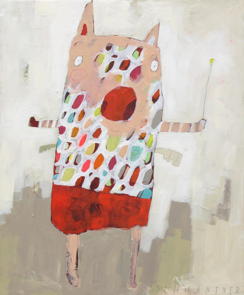 Getupftes Ringelstrumpfschwein, 2009, 78 x 94