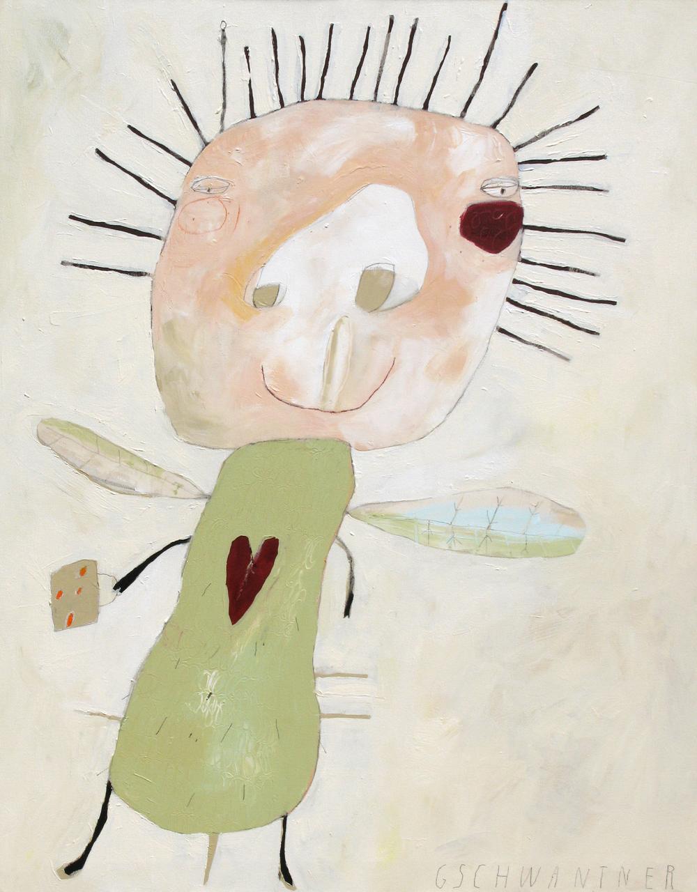 Grünes Herzwesen, 2008, 103 x 133