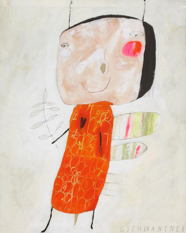 Oranges Herzwesen, 2008, 103 x 133