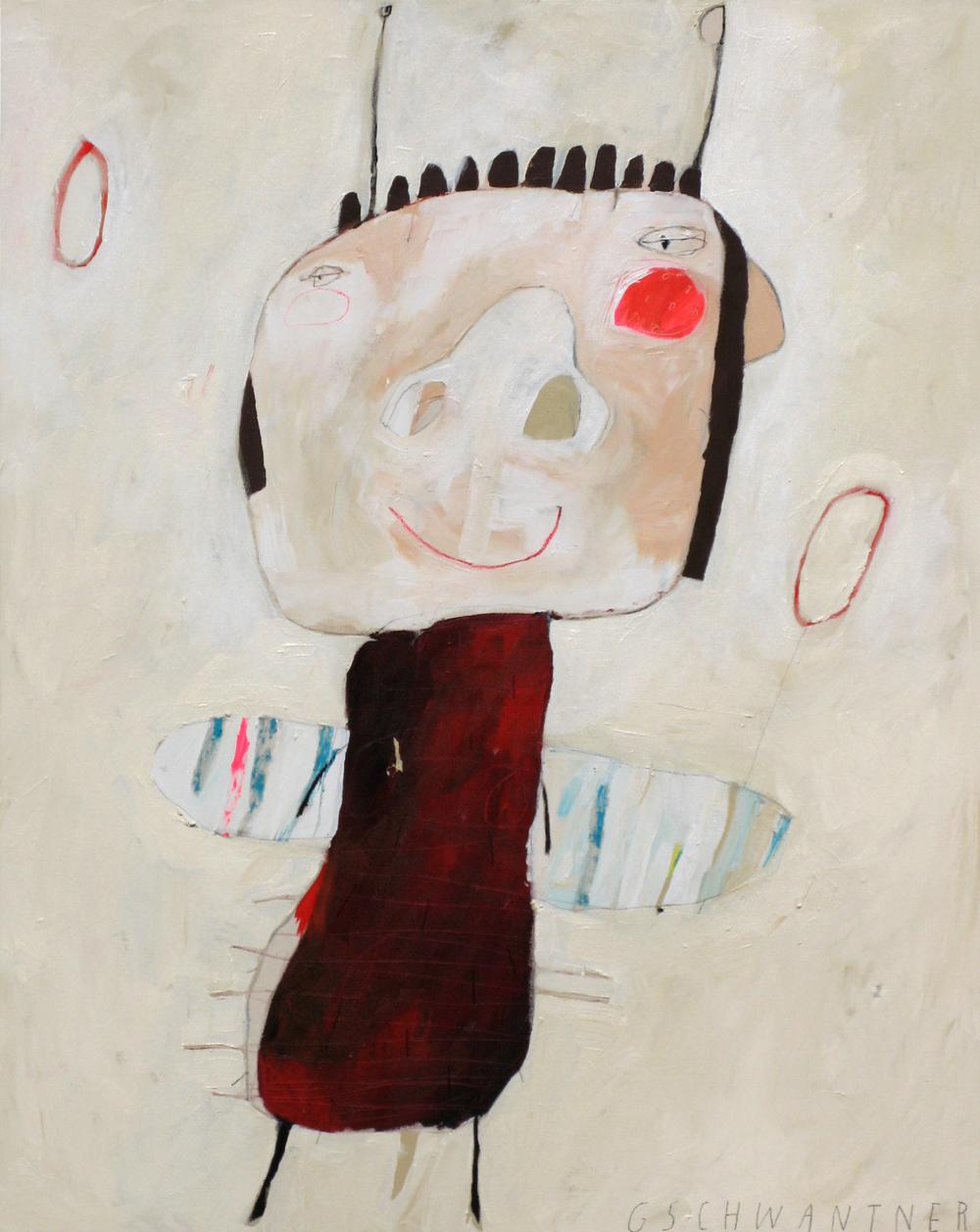 Rotes Herzwesen, 2008, 103 x 133