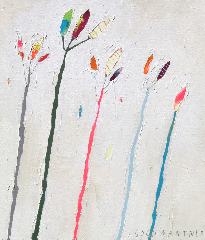 Bunte Knospen, 2011, Acryl auf Leinwand, 60 x 68 cm