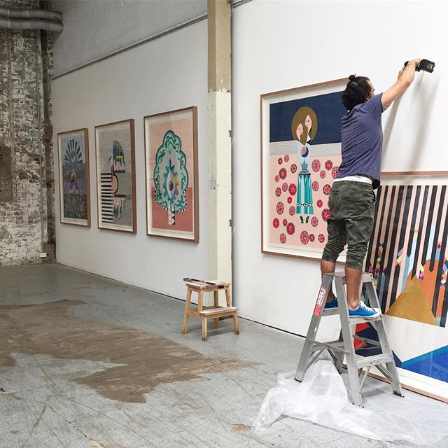 Hanging for Saturday - TIMELESSNESS opens this Saturday at 4pm @koskela_ biggest thanks to the best man on earth @ghostfoolmadmanking xxx